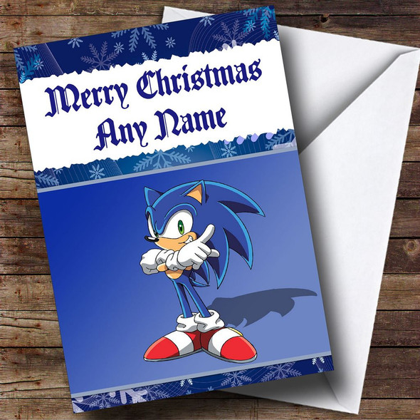 Sonic The Hedgehog Personalised Christmas Card
