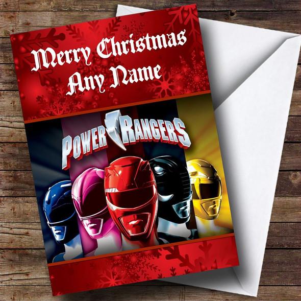 Power Rangers Personalised Christmas Card