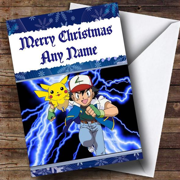 Pokemon Personalised Christmas Card