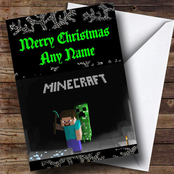 Minecraft Personalised Christmas Card