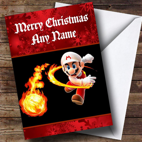 Super Mario Personalised Christmas Card