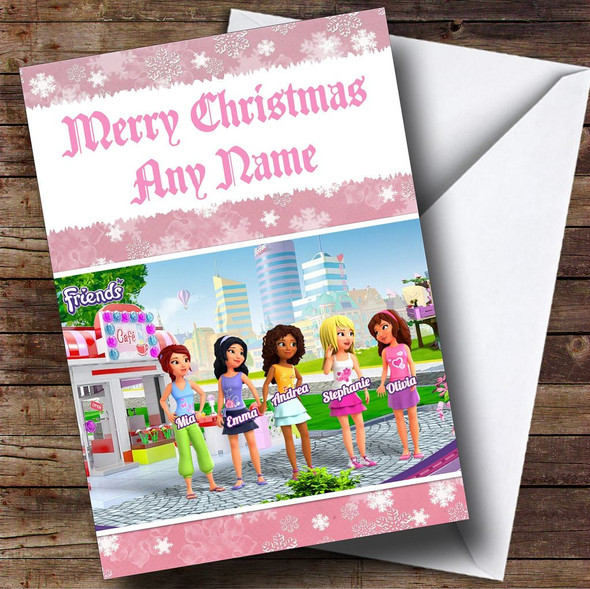 Lego Friends Personalised Christmas Card