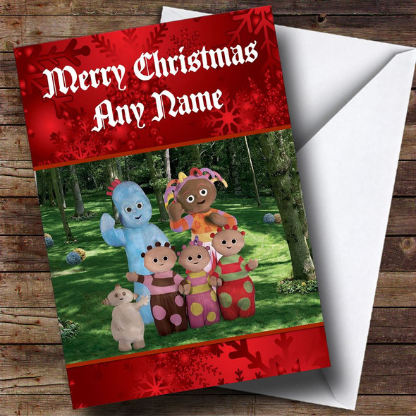 In The Night Garden Red Personalised Christmas Card