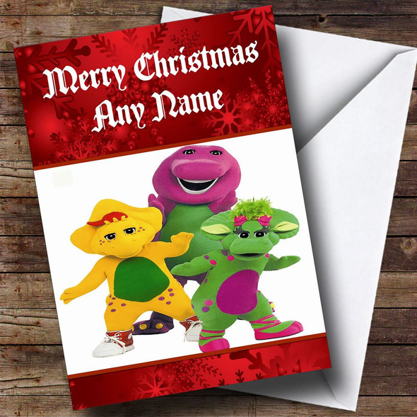 Barney Personalised Christmas Card