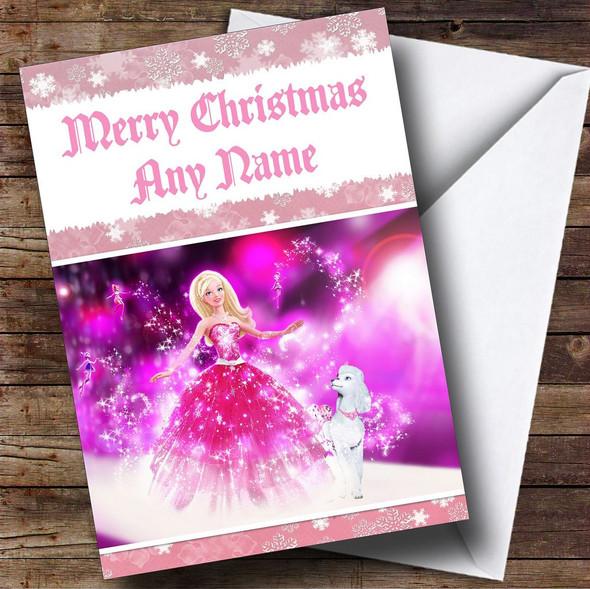 Barbie Personalised Christmas Card