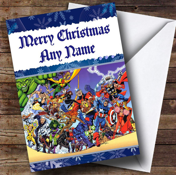 Avengers Personalised Christmas Card