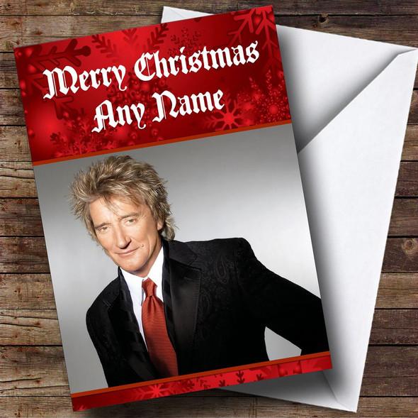 Rod Stewart Personalised  Christmas Card