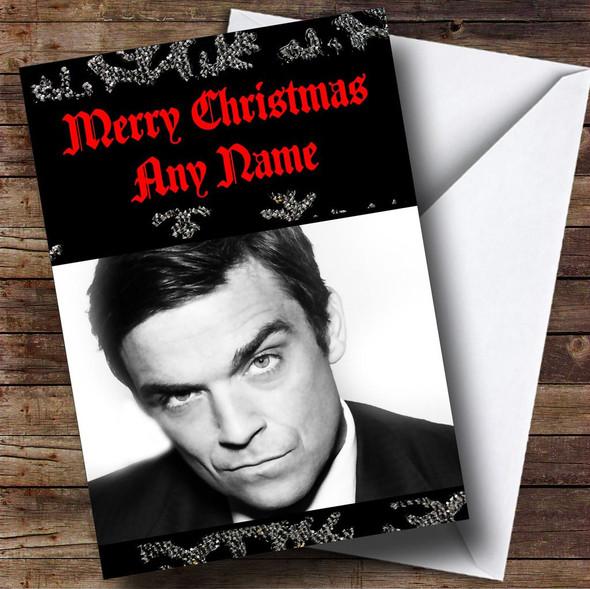 Robbie Williams Personalised  Christmas Card