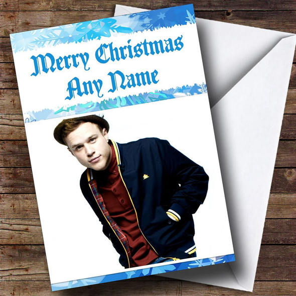 Olly Murs Personalised  Christmas Card