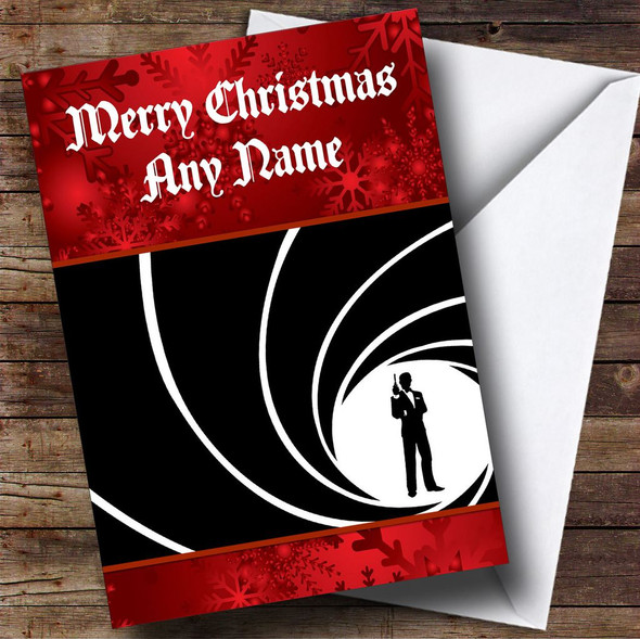 James Bond Personalised  Christmas Card
