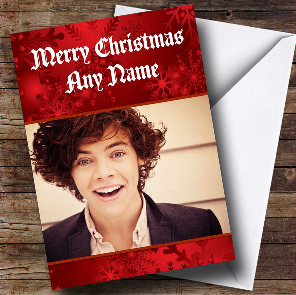 Harry Styles One Direction Personalised  Christmas Card