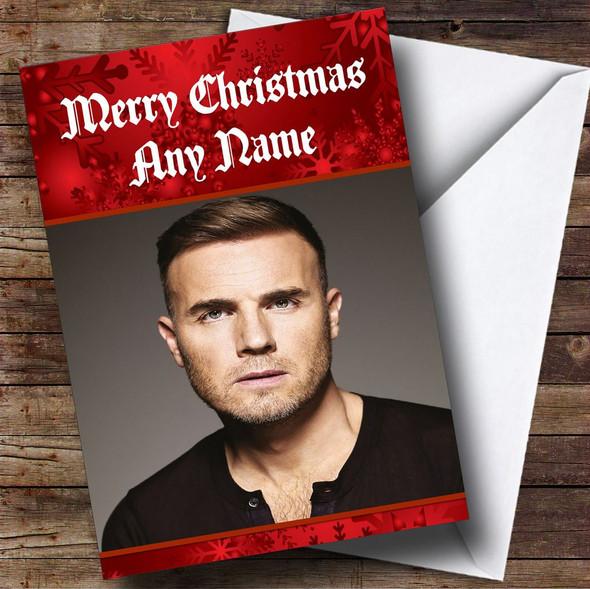 Gary Barlow Personalised Christmas Card