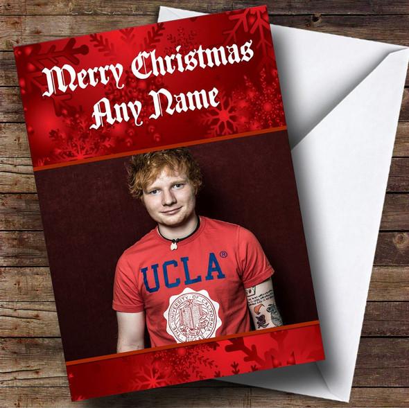 Ed Sheeran Personalised Christmas Card