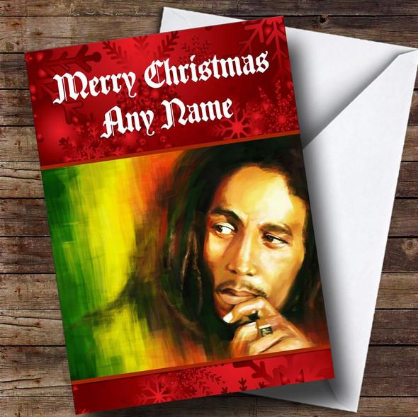 Bob Marley Personalised  Christmas Card