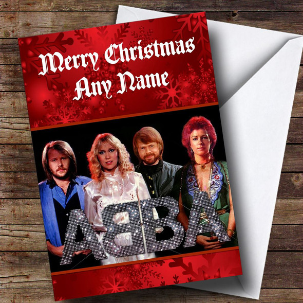 Abba Personalised  Christmas Card