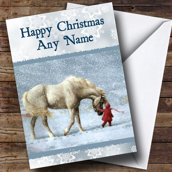 Beautiful Horse Christmas Card Personalised