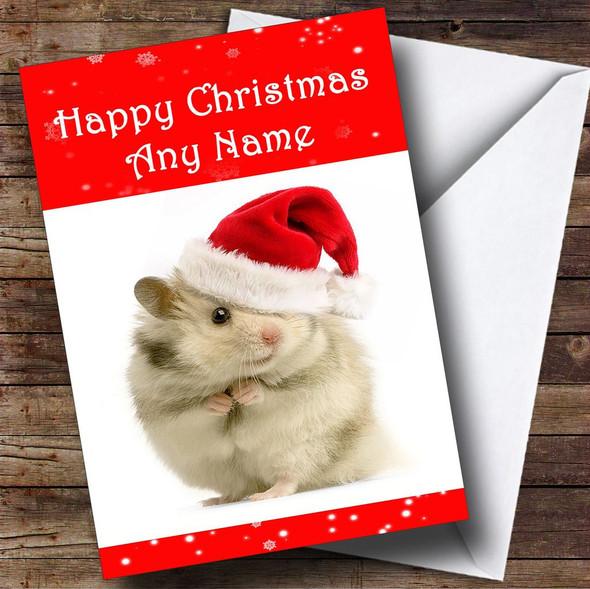 Hamster Christmas Card Personalised