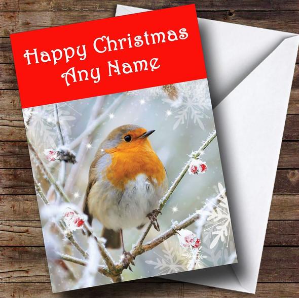 Christmas Robin Christmas Card Personalised