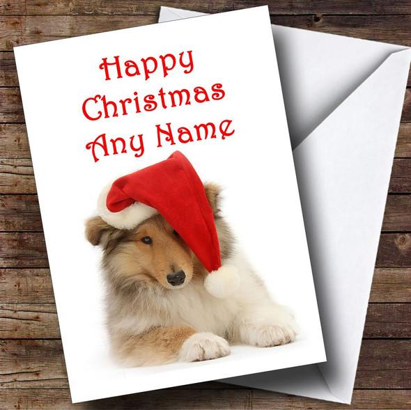 Christmas Dog Christmas Card Personalised