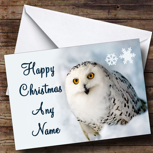 Stunning Owl Christmas Card Personalised