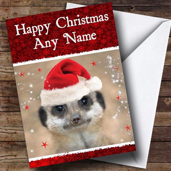 Meerkat Christmas Card Personalised