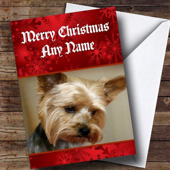 Yorkshire Terrier Dog Personalised Christmas Card