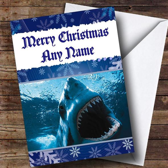 Shark Personalised Christmas Card