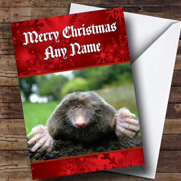 Mole Personalised Christmas Card