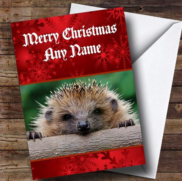 Hedgehog Personalised Christmas Card