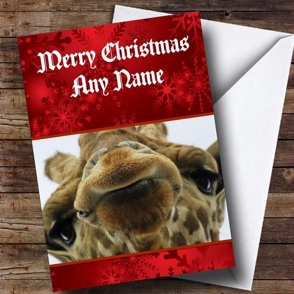 Giraffe Personalised Christmas Card