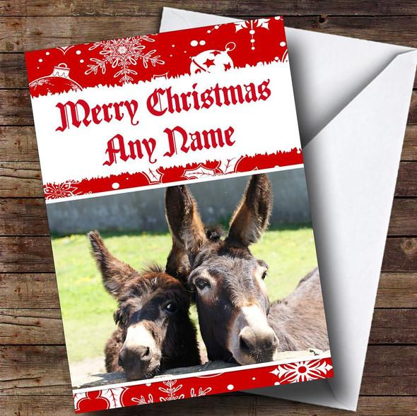 Donkey Personalised Christmas Card