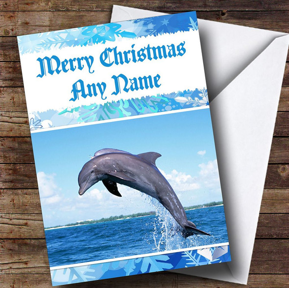 Dolphin Personalised Christmas Card