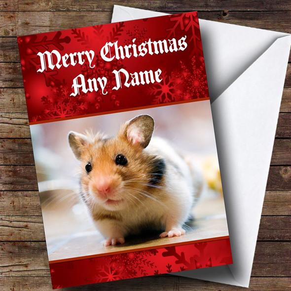 Hamster Personalised Christmas Card