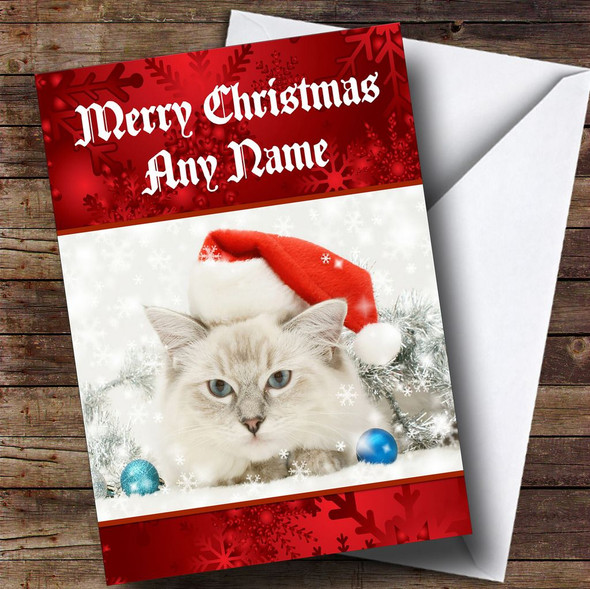Christmas Cat Personalised Christmas Card