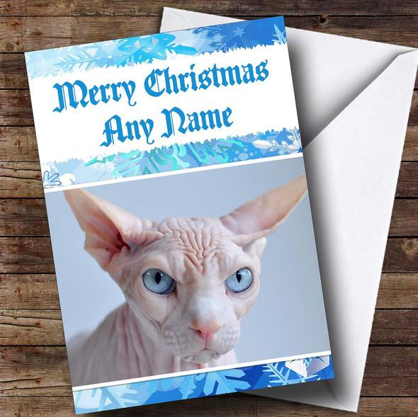 Sphynx Cat Personalised Christmas Card