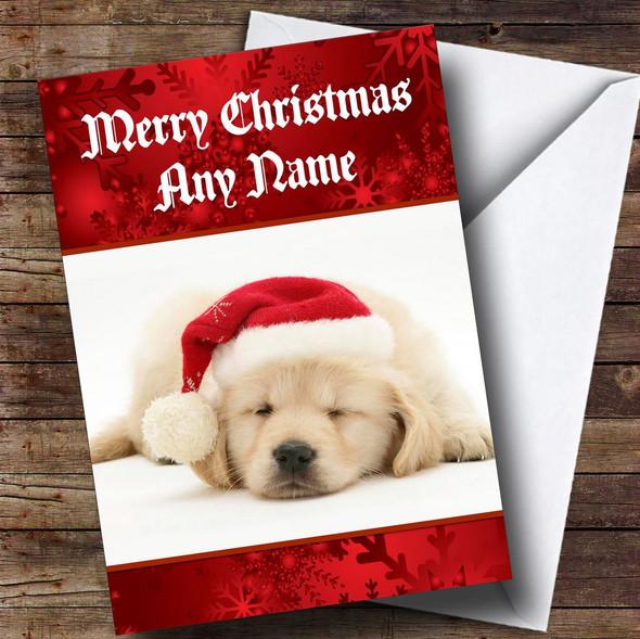 Beautiful Labrador Puppy Dog Personalised Christmas Card
