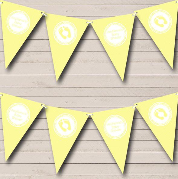 Polkadot Yellow Personalised Baby Shower Bunting
