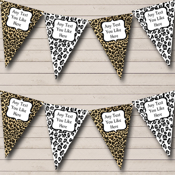 Leopard Print Funky Personalised Birthday Party Bunting