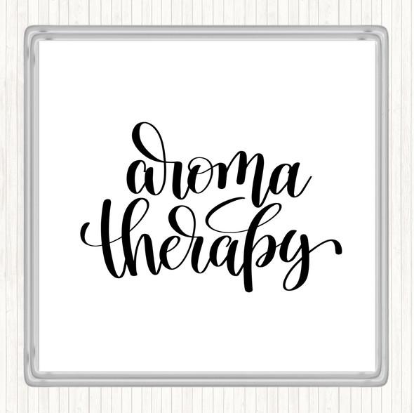 White Black Aromatherapy Quote Drinks Mat Coaster