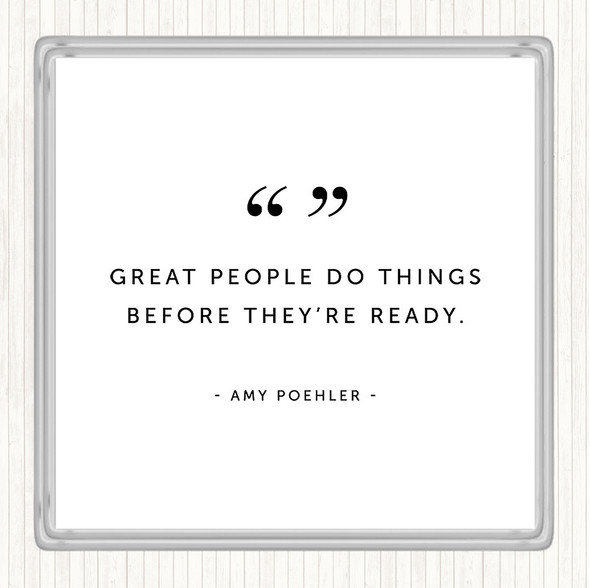 White Black Great People Quote Drinks Mat Coaster