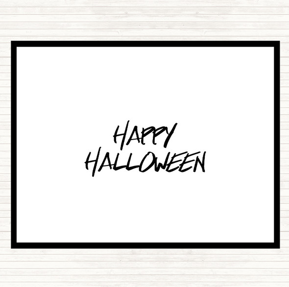 White Black Halloween Quote Dinner Table Placemat
