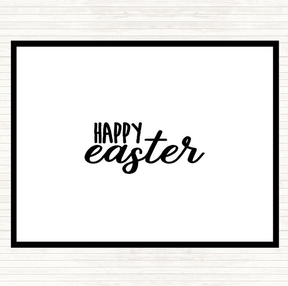 White Black Happy Easter Quote Dinner Table Placemat