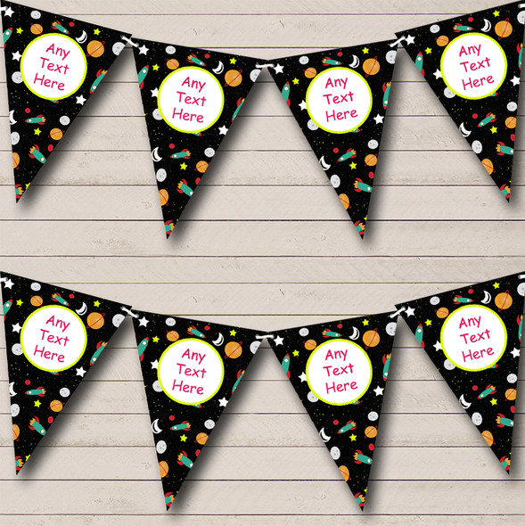 Space Rocket Spaceship Personalised Children's Birthday Party Bunting