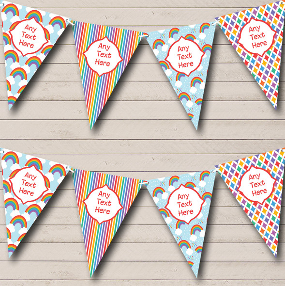 Rainbow Bright Personalised Children's Birthday Party Bunting