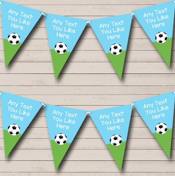 Football Birthday Party Blue Personalised Children's Birthday Party Bunting