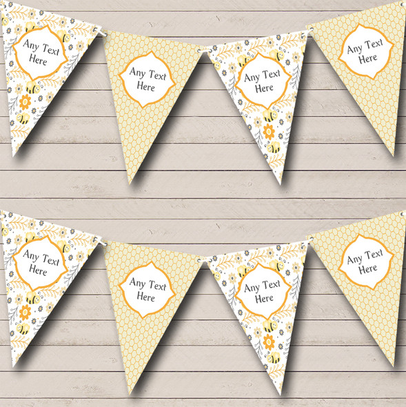 Bumble Bee & Honeycomb Personalised Children's Birthday Party Bunting