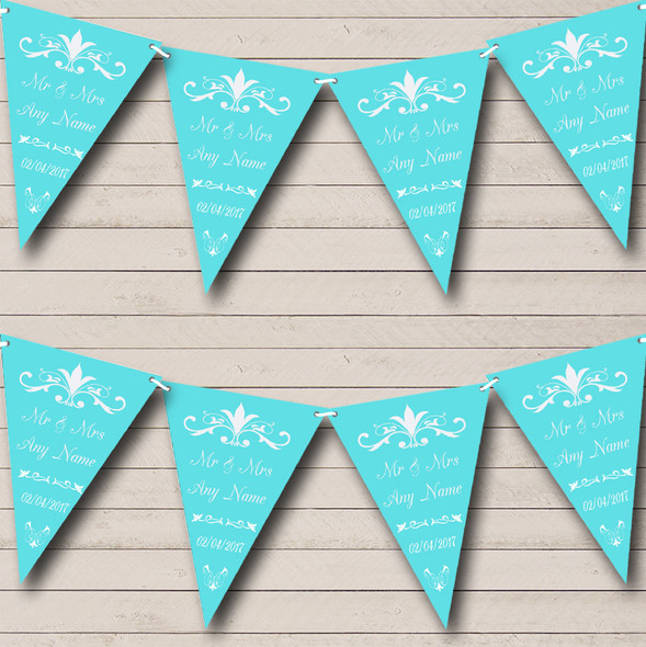 Regal Or Tiffany Blue Personalised Engagement Party Bunting