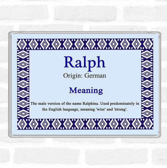 Ralph Name Meaning Jumbo Fridge Magnet Blue