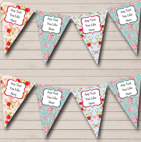Floral Shabby Chic Personalised Hen Do Night Party Bunting