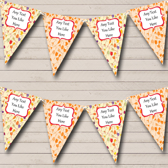Cocktails Personalised Hen Do Night Party Bunting
